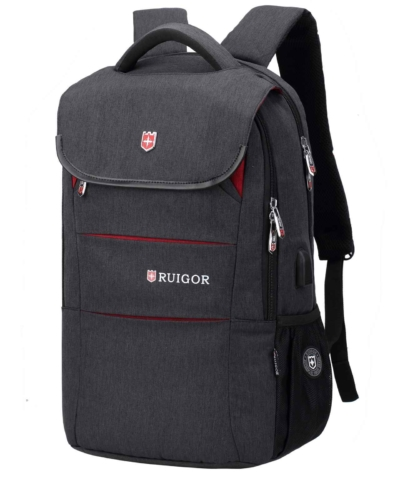 RUIGOR CITY 64 MOCHILA PARA LAPTOP COLOR GRIS OSCURO