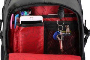 school backpack - internal organization