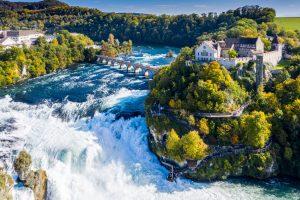 Waterfalls in Switzerland - Rhine Falls