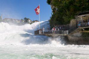 Waterfalls in Switzerland - Rhine Falls Walk